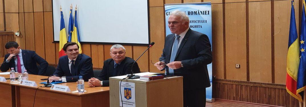 Ceremonialul de investire în funcția de  Prefect al județului Harghita a domnului Ion PROCA